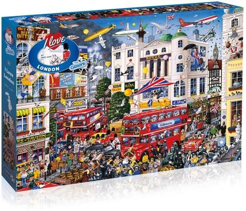 I Love London Puzzel (1000 stukjes)