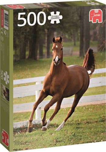 Premium Collection Puzzel - Playful Foal (500 stukjes)