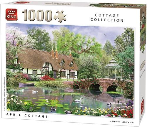 April Cottage Puzzel (1000 stukjes)