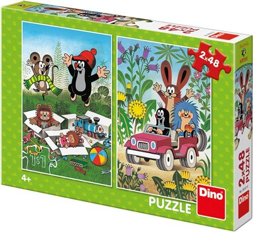 Molletje - Plezier Puzzel (2 x 48 stukjes)