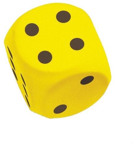 Grote Dobbelsteen 15 cm (Geel)
