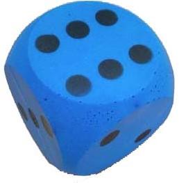 Grote Dobbelsteen 15 cm (Blauw)