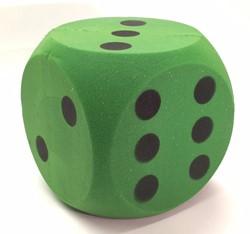 Grote Dobbelsteen 15 cm (Groen)