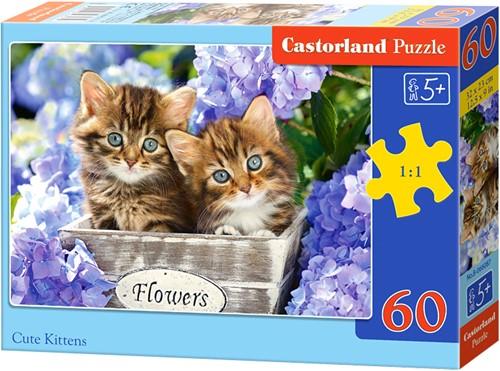 Cute kittens Puzzel (60 stukjes)