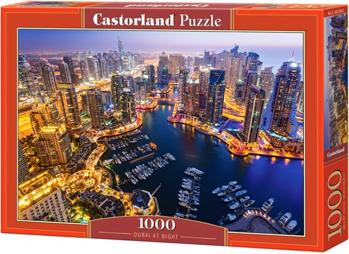 Dubai at Night Puzzel (1000 stukjes)