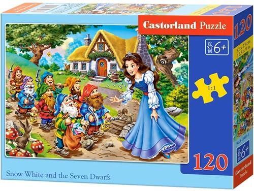 Snow White and the 7 Dwarfs Puzzel (120 stukjes)