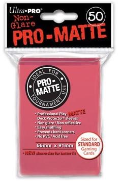 Sleeves Pro-Matte - Standaard Fuchsia (66x91 mm)