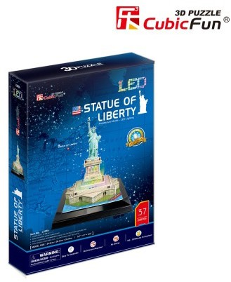 3D Puzzel Statue of Liberty LED (37 stukjes)-1