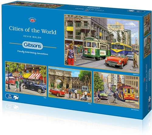 Cities of the World Puzzels (4 x 500 stukjes)