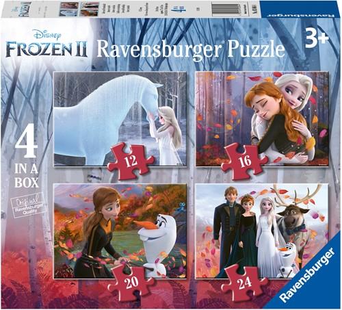 Frozen 2 - Liefde en vriendschap Puzzel (4 in 1)