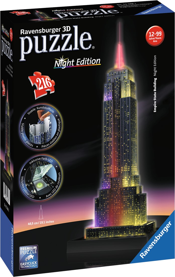 3D Puzzel - Empire State Building - Night Edition (216 stukjes ...