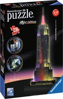 3D Puzzel - Empire State Building - Night Edition (216 stukjes)-1
