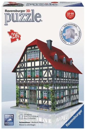 3D Puzzel - Middeleeuws Huis (216 stukjes)-1