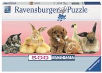 Dierenvrienden Puzzel (500 stukjes)-1