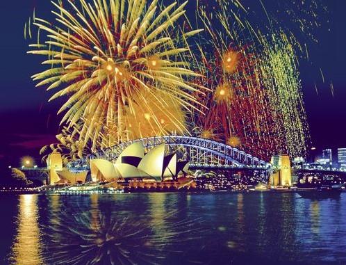 Vuurwerk boven Sydney Puzzel