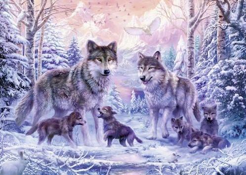 Arctische Wolven Puzzel (1000 stukjes)-2