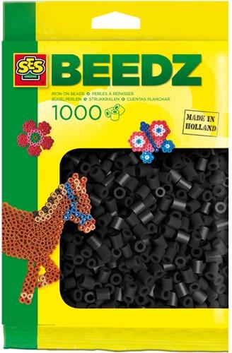 SES - Strijkkralen 1000 stuks Zwart