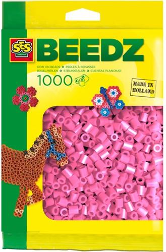 SES - Strijkkralen 1000 stuks Roze