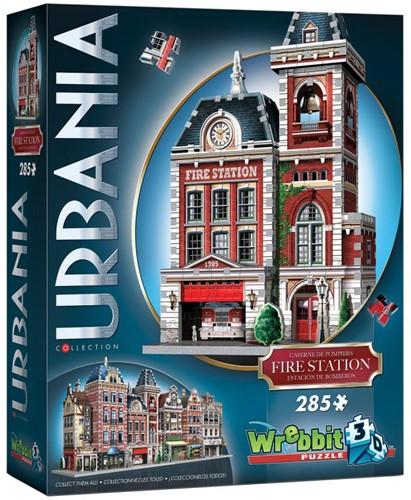 Wrebbit 3D Puzzel - Urbania Fire Station (285 stukjes) (Doos beschadigd)