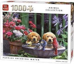 Puppies Drinking Water Puzzel (1000 stukjes)