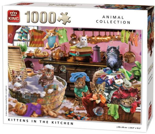 Kittens in the Kitchen Puzzel (1000 stukjes)