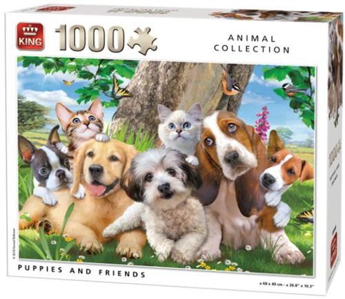 Puppies and Friends Puzzel (1000 stukjes)