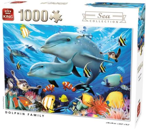 Dolphin Family Puzzel (1000 stukjes)