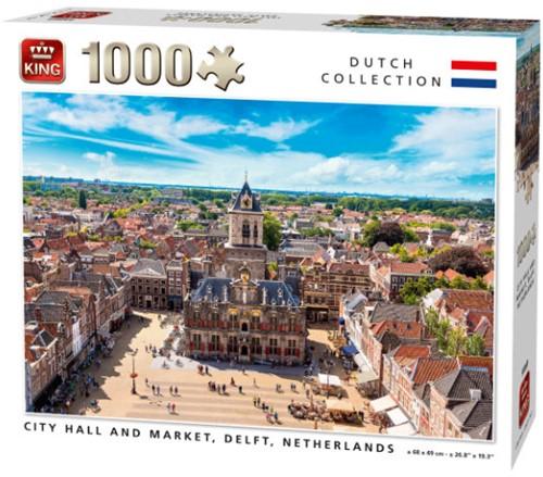 City Hall and Market, Delft Puzzel (1000 stukjes)
