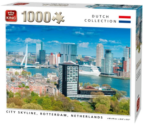 City Skyline, Rotterdam Puzzel (1000 stukjes)