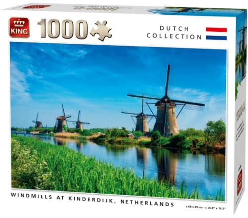 Windmills at Kinderdijk Puzzel (1000 stukjes)