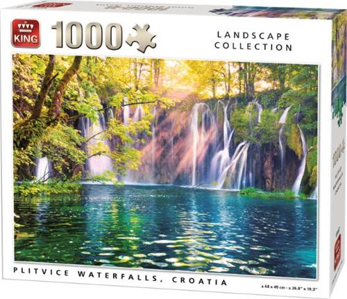 Plitvice Waterfalls, Croatia Puzzel (1000 stukjes)