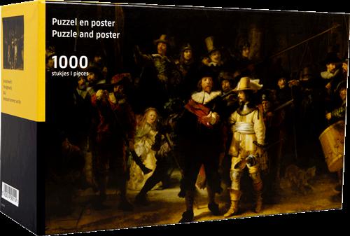 De Nachtwacht - Rembrandt van Rijn Puzzel (1000 stukjes)