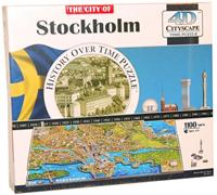 4D Cityscape - Stockholm Puzzel (1245 stukjes)