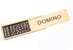 Domino Spel In Houten Kist