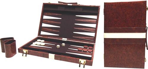 Backgammon Koffer Bruin (38 cm)