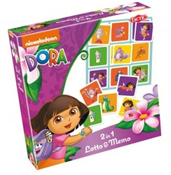Dora 2in1 Lotto & Memo
