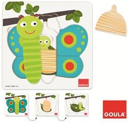 Inlegpuzzel Vlinder (3 Lagen)