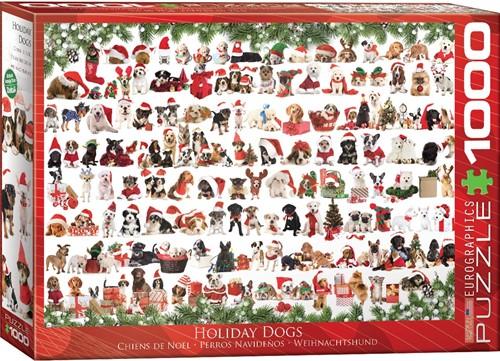 Holiday Dogs Puzzel (1000 stukjes)