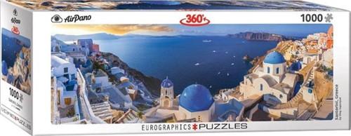 Santorini Greece Panorama Puzzel (1000 stukjes)
