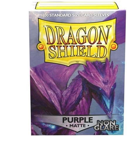 Dragon Shield - Non-Glare Sleeves Paars (100 stuks)