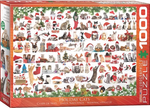 Holiday Cats Puzzel (1000 stukjes)