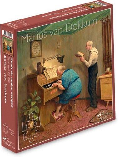 Marius van Dokkum - Zoals de Ouden Zongen Puzzel (1000 stukjes)