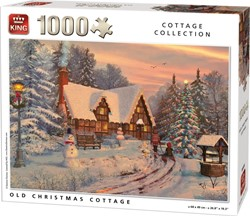 Old Christmas Cottage Puzzel (1000 stukjes)