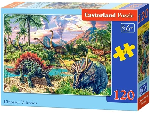 Dinosaur Volcanos Puzzel (120 stukjes)