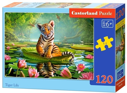 Tiger Lily Puzzel (120 stukjes)