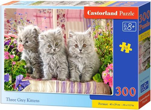 Three Grey Kittens Puzzel (300 stukjes)