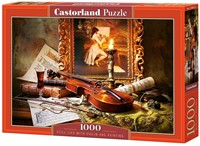 Still Life With Violin And Painting Puzzel (1000 stukjes)-1