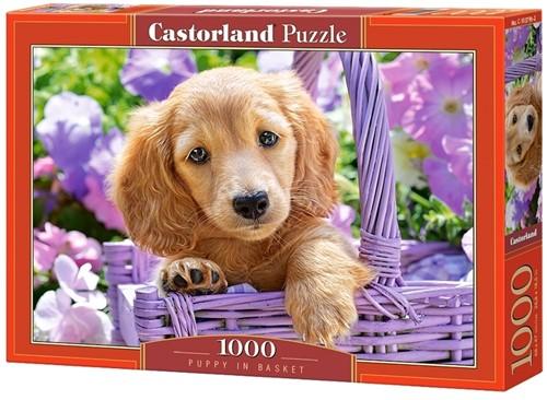 Puppy in Basket Puzzel (1000 stukjes)