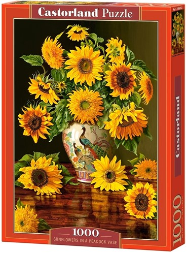Sunflowers in a Peacock Vase Puzzel (1000 stukjes)