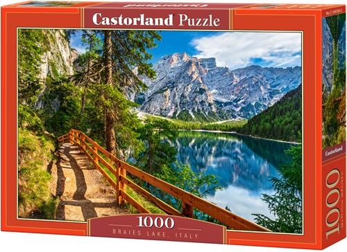 Braies Lake, Italy Puzzel (1000 stukjes)